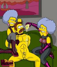 #pic680554: Drawn-Hentai – Ned Flanders – Patty Bouvier – Selma Bouvier – The Simpsons