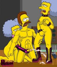 #pic680553: Drawn-Hentai – Ned Flanders – Patty Bouvier – Selma Bouvier – The Simpsons