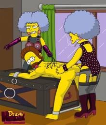 #pic680557: Drawn-Hentai – Ned Flanders – Patty Bouvier – Selma Bouvier – The Simpsons