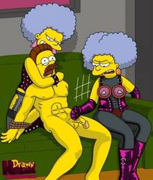 #pic680552: Drawn-Hentai – Ned Flanders – Patty Bouvier – Selma Bouvier – The Simpsons