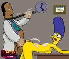 #pic680530: Drawn-Hentai – Julius Hibbert – Marge Simpson – The Simpsons
