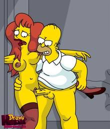 #pic680492: Drawn-Hentai – Homer Simpson – Mindy Simmons – The Simpsons