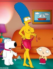 #pic673892: Brian Griffin – Family Guy – Marge Simpson – Pat Kassab – Stewie Griffin – The Simpsons – crossover