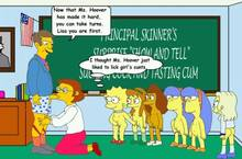 #pic673539: Elizabeth Hoover – Lisa Simpson – Seymour Skinner – Sherri – Terri – The Simpsons – animated