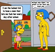 #pic673535: Luann Van Houten – Milhouse Van Houten – The Simpsons – animated