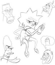 #pic1094356: Homer Simpson – Lisa Simpson – Maggie Simpson – Marge Simpson – Mr. Horse – Ren Hoek – Ren and Stimpy Show – Stimpy – The Simpsons – crossover – muddy mudskipper