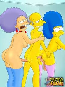 #pic1053301: Marge Simpson – Montgomery Burns – Patty Bouvier – The Simpsons – futa-toon