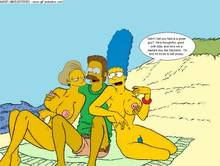 #pic596078: Edna Krabappel – Marge Simpson – Ned Flanders – The Simpsons – animated