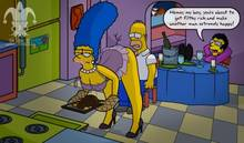 #pic1272285: Artie Ziff – Homer Simpson – Marge Simpson – The Simpsons – blargsnarf