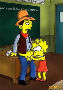 #pic999454: Lisa Simpson – Mr. Bergstrom – The Simpsons – se&ntilde-or x