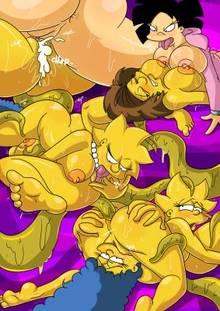#pic1270664: Amy Wong – Edna Krabappel – Futurama – Lisa Simpson – Marge Simpson – The Simpsons – crossover – kogeikun