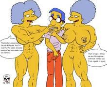 #pic928640: Milhouse Van Houten – Patty Bouvier – Selma Bouvier – The Fear – The Simpsons – sum sadr