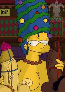 #pic1269831: Christmas – Marge Simpson – The Simpsons – blargsnarf