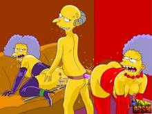 #pic1268380: Montgomery Burns – Patty Bouvier – Selma Bouvier – The Simpsons – Toon BDSM