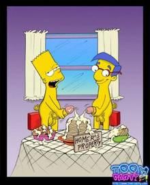 #pic423636: Bart Simpson – Milhouse Van Houten – The Simpsons – Toon-Party