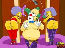 #pic1266103: Krusty The Clown – Patty Bouvier – Selma Bouvier – The Simpsons – Toon BDSM