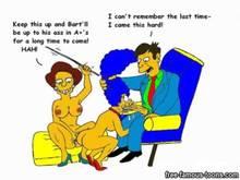 #pic985635: Edna Krabappel – Marge Simpson – Seymour Skinner – The Simpsons