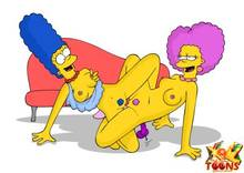 #pic981556: Marge Simpson – Selma Bouvier – The Simpsons – xl-toons