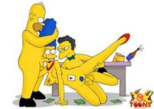 #pic981552: Homer Simpson – Marge Simpson – Moe Szyslak – The Simpsons – xl-toons