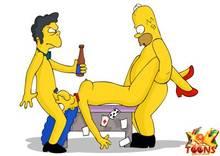 #pic981551: Homer Simpson – Marge Simpson – Moe Szyslak – The Simpsons – xl-toons
