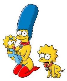 #pic981003: DAHR – Lisa Simpson – Maggie Simpson – Marge Simpson – The Simpsons