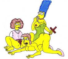 #pic979980: Helen Lovejoy – Marge Simpson – Maude Flanders – The Simpsons – xiro