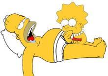 #pic970910: Homer Simpson – Lisa Simpson – The Simpsons