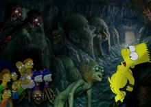 #pic952515: Bart Simpson – Gollum – Hell – Homer Simpson – Maggie Simpson – Marge Simpson – Sherri – Terri – The Simpsons