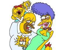 #pic950902: Bart Simpson – Homer Simpson – Lisa Simpson – Marge Simpson – The Simpsons