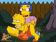 #pic948678: Bart Simpson – Lisa Simpson – Milhouse Van Houten – The Simpsons – comics-toons