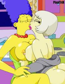 #pic938378: Lady Gaga – Marge Simpson – PixalTrix – The Simpsons