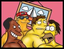 #pic936526: Barney Gumble – Carl Carlson – Duffman – Hernan D Rosas – Lenny Leonard – The Simpsons