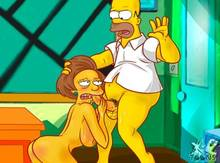 #pic933580: Edna Krabappel – Homer Simpson – The Simpsons – xl-toons
