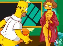 #pic933582: Edna Krabappel – Homer Simpson – The Simpsons – xl-toons