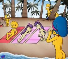 #pic430827: Bart Simpson – Lisa Simpson – Maggie Simpson – Marge Simpson – Sherri – Terri – The Simpsons – WDJ – animated – helix