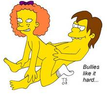 #pic466160: Francine – Nelson Muntz – The Simpsons – Tommy Simms