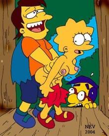 #pic455955: Lisa Simpson – Milhouse Van Houten – Nelson Muntz – The Simpsons – nev