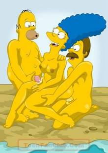 #pic451485: Homer Simpson – Marge Simpson – Ned Flanders – The Simpsons
