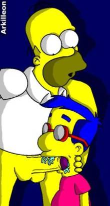 #pic1227722: Homer Simpson – Milhouse Van Houten – The Simpsons