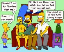 #pic584341: Bart Simpson – Homer Simpson – Marge Simpson – Ned Flanders – The Simpsons – animated
