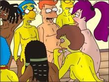 #pic610612: Bart Simpson – Cubert Farnsworth – Dwight Conrad – Futurama – LaBarbara Conrad – Marge Simpson – Maude Flanders – Milhouse Van Houten – Niicko – The Simpsons – Turanga Leela – crossover