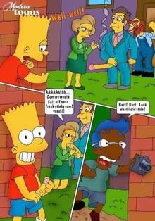 #pic564410: Bart Simpson – Edna Krabappel – Groundskeeper Willie – Milhouse Van Houten – Modern Toons – Outhouse – Seymour Skinner – The Simpsons