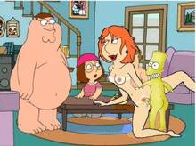 #pic557412: Bart Simpson – Family Guy – Lois Griffin – Meg Griffin – Peter Griffin – The Simpsons – crossover
