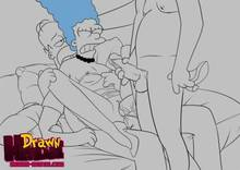 #pic549655: Drawn-Hentai – Homer Simpson – Marge Simpson – The Simpsons