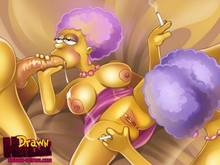 #pic549640: Drawn-Hentai – Patty Bouvier – Selma Bouvier – The Simpsons