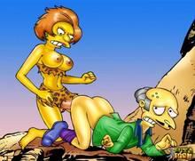 #pic544400: Edna Krabappel – Montgomery Burns – The Simpsons – futa-toon