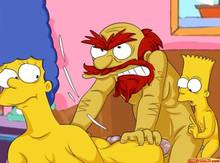 #pic542417: Bart Simpson – Groundskeeper Willie – Marge Simpson – The Simpsons – comics-toons
