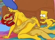 #pic542414: Bart Simpson – Groundskeeper Willie – Marge Simpson – The Simpsons – comics-toons