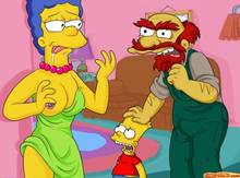#pic542407: Bart Simpson – Groundskeeper Willie – Marge Simpson – The Simpsons – comics-toons