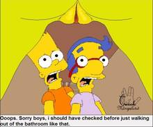 #pic657877: Bart Simpson – Marge Simpson – Milhouse Van Houten – The Simpsons